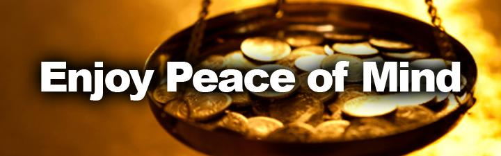 Enjoy Peace of Mind when you sell gold